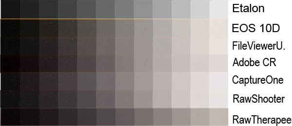 How many different interpretations of gray tones, and contrast! And we're  not talking about colors yet, just gray tones!